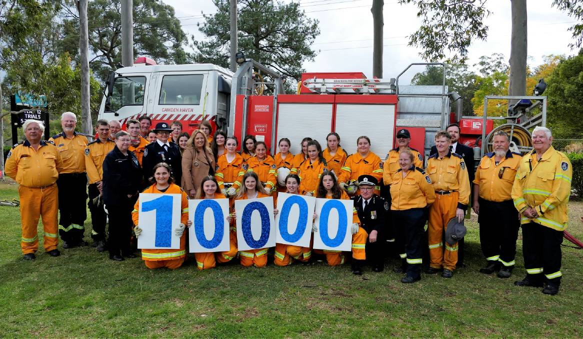 The Camden Haven High School students helped mark a milestone for the NSW RFS. The number of students graduating reached 10,000, since the program's 2004 inception. Photo: supplied.