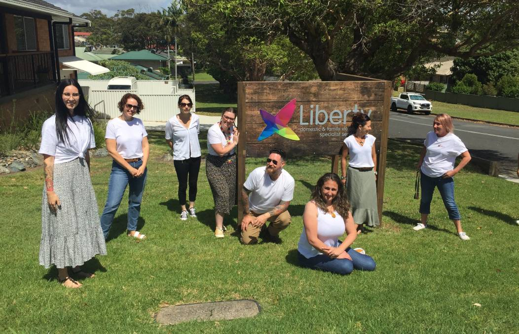 The team at Liberty in Port Macquarie will Walk In White on November 29.