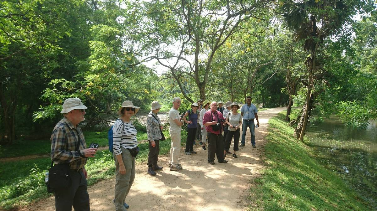 ON TOUR INTERNATIOANLY: The Association for the Study of Australian Literature group in Sri Lanka, 2018. Photo: Supplied/Susan Lever.