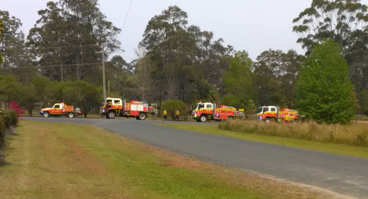Dedicated crew: The Lake Cathie Rural Fire Brigade saved Long Point Vineyard from bushfire in October 2019.